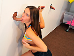 Pic of Jennifer Dark in blowjobfridays episode: Gloryhole girl sucks three dicks
