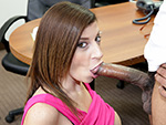blowjobfridays: Sara Jay Sucks A Big Black Cock Until It Cums!