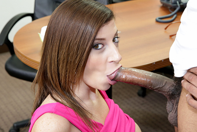 Sara Jay Sucks A Big Black Cock Until It Cums