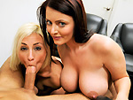 Pic of Sophie Dee in blowjobfridays episode: Lexi Swallow & Sophie Dee Attacks The Cock!