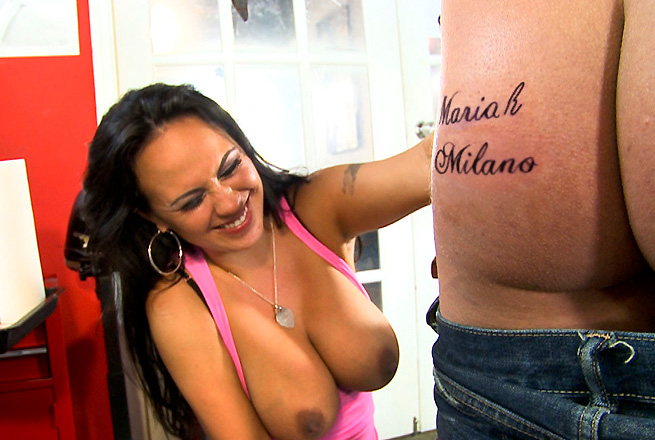 Tattoo sex with Mariah Milano