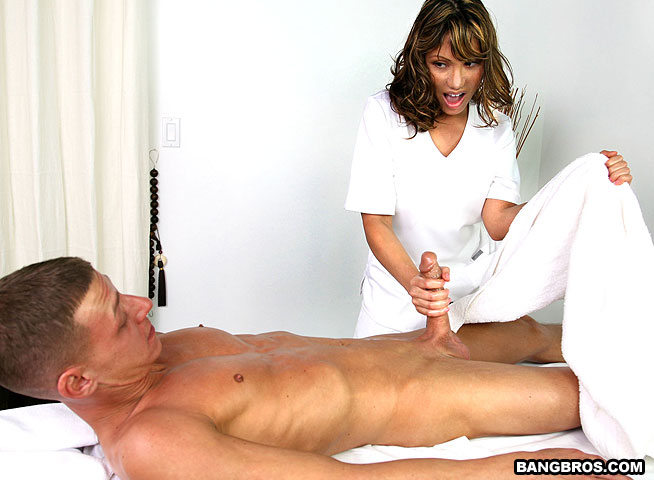 real erection in massage.