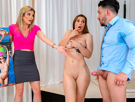 Penthouse Centerfold Fucks Her Stepfamily