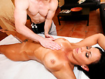 pornstarspa: Rachel Starr Gets a Rub Down