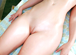 pornstarspa: Tight pussy gets a deep rub down and fucking