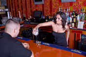 The girl Bartender