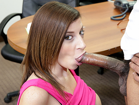 Sara Jay Sucks A Big Black Cock Until It Cums!
